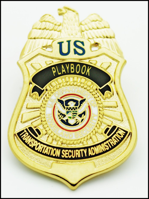 Transportation Security Administration Playbook Officer Mini Badge Lapel Pin