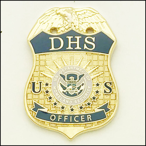 Department of Homeland Security Officer Mini Badge Lapel Pin