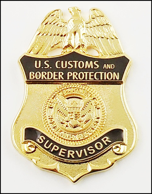 Customs and Border Protection Supervisor Mini Badge Lapel Pin