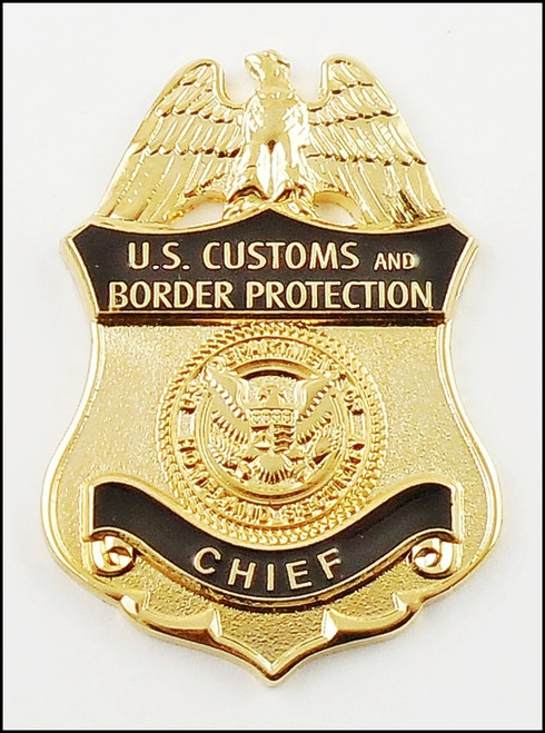 Customs and Border Protection Chief Mini Badge Lapel Pin