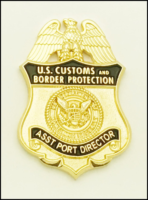 Customs and Border Protection Asst. Port Director Mini Badge Lapel Pin