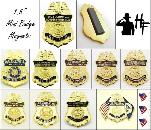 Customs and Border Protection Mini Badge Magnets