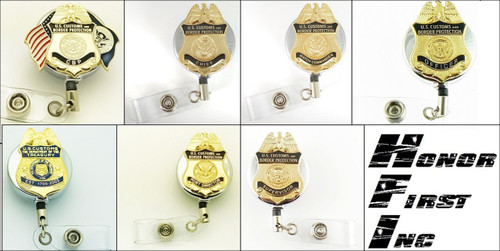 Customs and Border Protection Mini Badge Chrome ID Reels