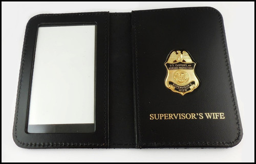 CBP Supervisors Wife Mini Badge ID Case