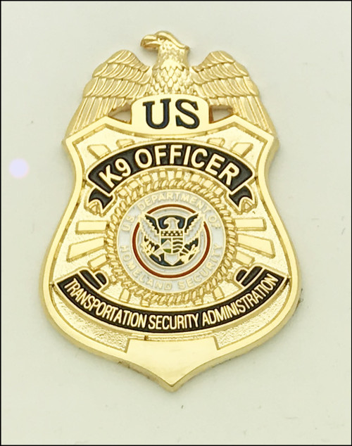 Transportation Security Administration K-9 Officer Mini Badge Lapel Pin