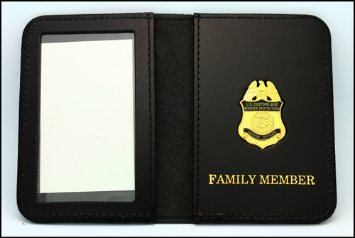 Customs and Border Protection Officer Mini Badge ID Case with Family Member embossing