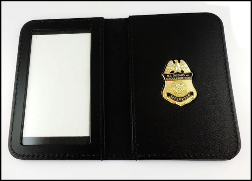 Customs and Border Protection Supervisor Mini Badge ID Cases with No Embossing