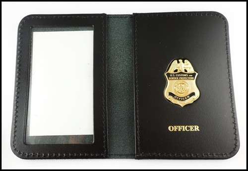 Customs and Border Protection Officer Mini Badge ID Cases with Officer Embossing