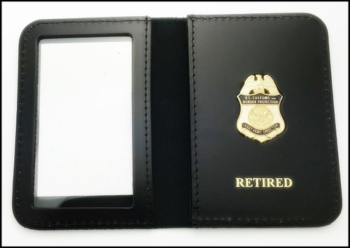 Customs and Border Protection Asst Port Director Mini Badge ID Cases with Retired Embossing