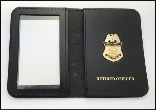 Customs and Border Protection Port Director Mini Badge ID Cases with Retired  Officer Embossing