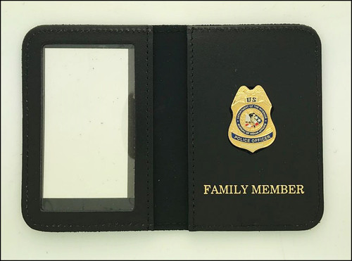 Bureau of Indian Affairs Police Officer Mini Badge ID Cases with Family Member Embossing