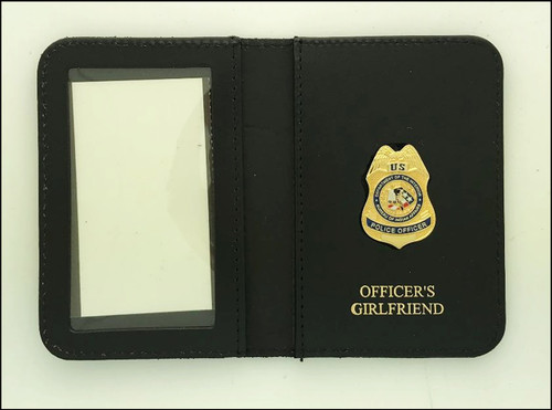 Bureau of Indian Affairs Police Officer Mini Badge ID Cases with Officers Girlfriend Embossing