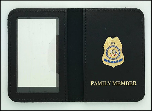 Bureau of Indian Affairs Police Chief Mini Badge ID Cases with Family Member Embossing