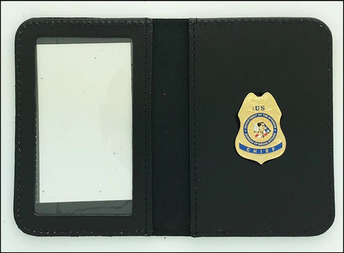 Bureau of Indian Affairs Police Chief Mini Badge ID Case