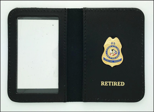 Bureau of Indian Affairs Special Agent Mini Badge ID Case with Retired Embossing