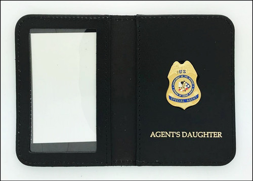 Bureau of Indian Affairs Special Agent Mini Badge ID Cases with Agent's Daughter Embossing