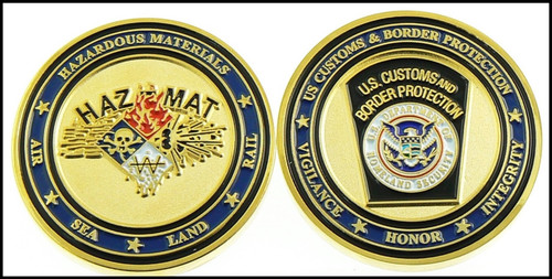 Customs and Border Protection HAZMAT I Challenge Coin - Both Sides