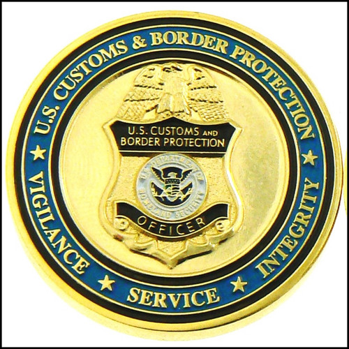 Customs and Border Protection OFO Patch & Badge Challenge Coin - Front Side