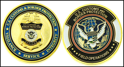 Customs and Border Protection OFO Patch & Badge Challenge Coin - Both Sides