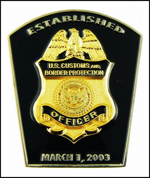 Customs and Border Protection CBP Patch Shaped Challenge Coin - Front Side