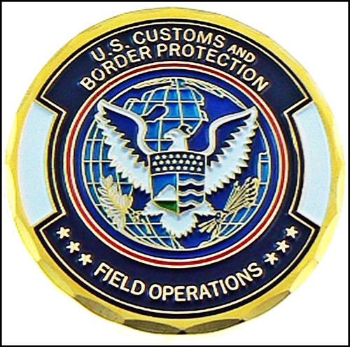 Customs and Border Protection Rail, Sea, Land, Air Challenge Coin - Back Side