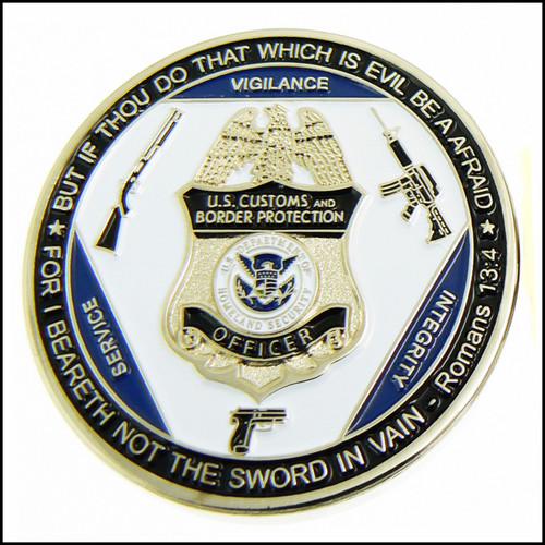 Customs and Border Protection Counter Terrorism Response Challenge Coin - Front Side