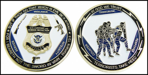Customs and Border Protection Counter Terrorism Response Challenge Coin - Both Sides