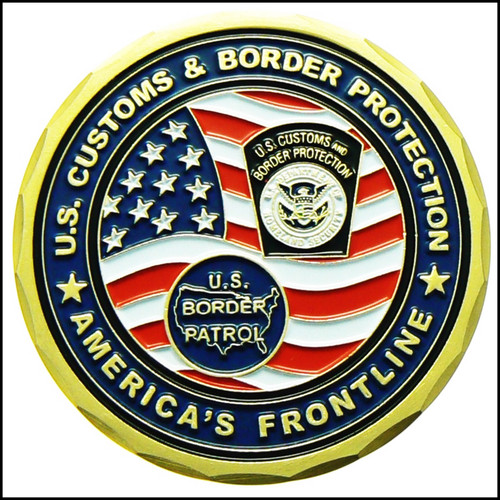 Customs and Border Protection Confined Space Entry Challenge Coin - Back Side