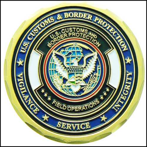 Customs and Border Protection HAZMAT III Challenge Coin - Back Side