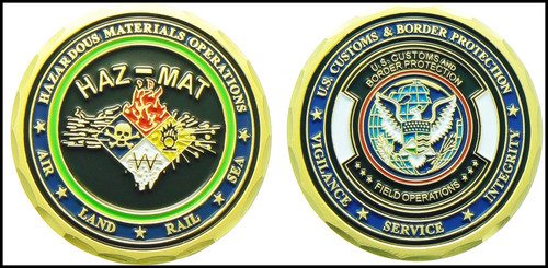 Customs and Border Protection HAZMAT III Challenge Coin - Both Sides
