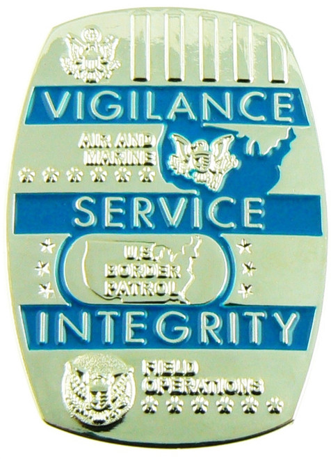 DHS Customs and Border Protection Challenge Coin Back