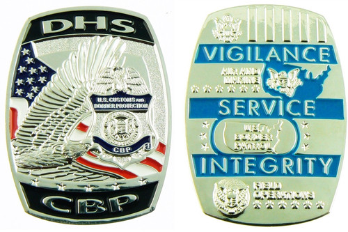 DHS Customs and Border Protection Challenge Coin Both Sides