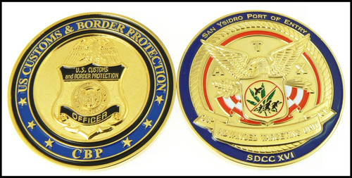 CBP San Ysidro Advanced Targeting Unit Challenge Coin Both Sides