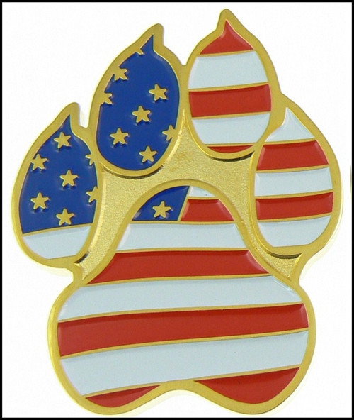 Customs and Border Protection K-9 Paw Challenge Coin Back
