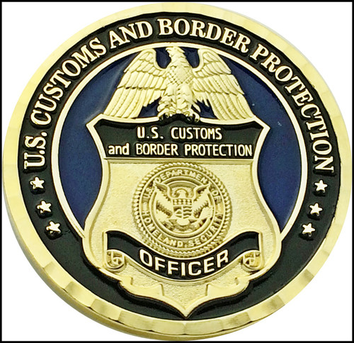 CBP Operation Over Flow San Diego, California Challenge Coin Back