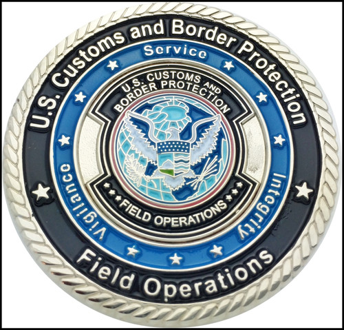 Customs and Border Protection EMS Challenge Coin Back