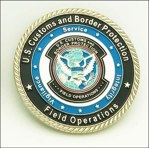 CBP Incident Management Challenge Coin Back