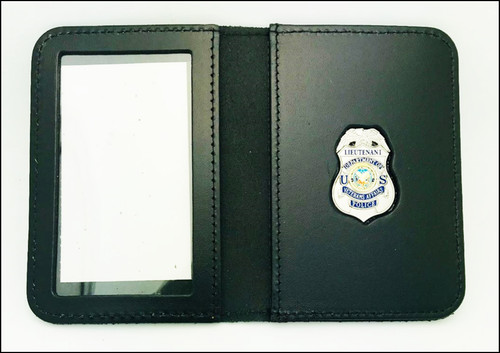 Veterans Affairs Police Lieutenant Mini Badge ID Case - No Embossing