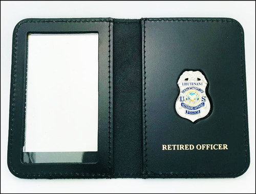 Veterans Affairs Police Lieutenant Mini Badge ID Case - Retired Officer