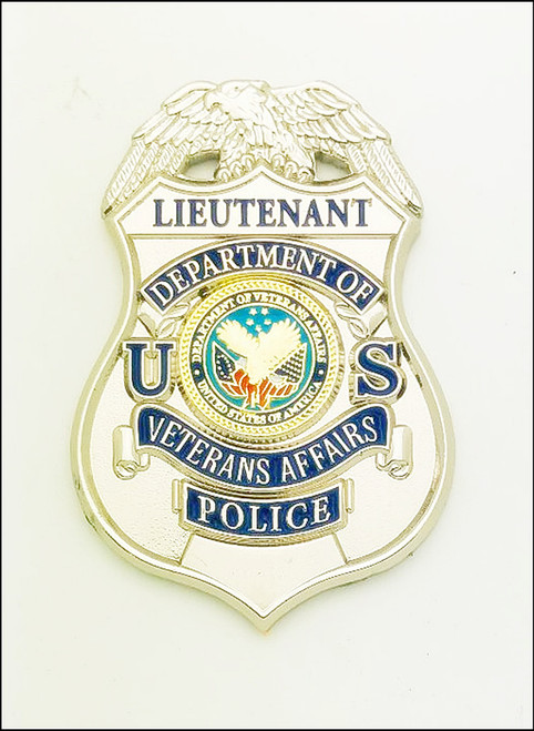Veterans Affairs Police Lieutenant Mini Badge Lapel Pin
