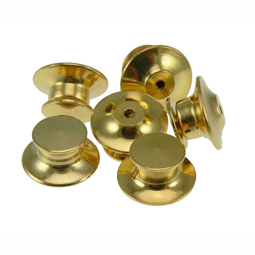 Package of 10 Locking Flathead Lapel Pin Clasps