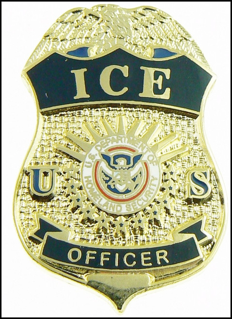 Immigration and Customs Enforcement Officer Mini Badge Lapel Pin