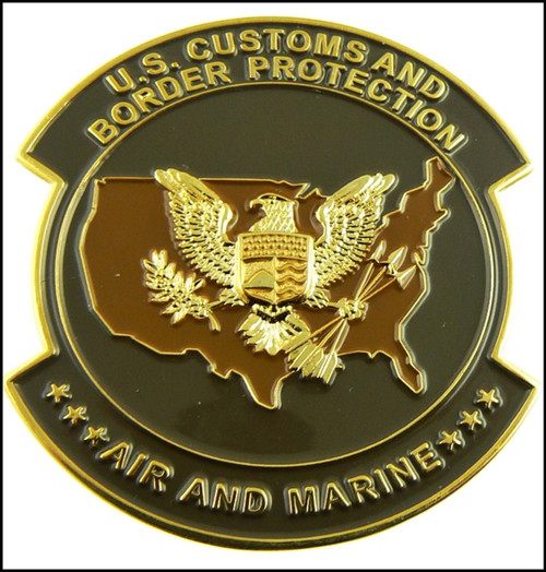 CBP Air and Marine Operations Patch Challenge Coin - Back