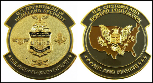 CBP Air and Marine Operations Patch Challenge Coin