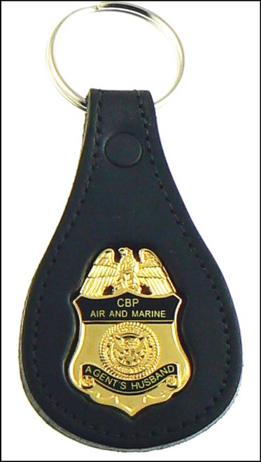 CBP Air and Marine Operations Agents Husband Mini Badge Key ring