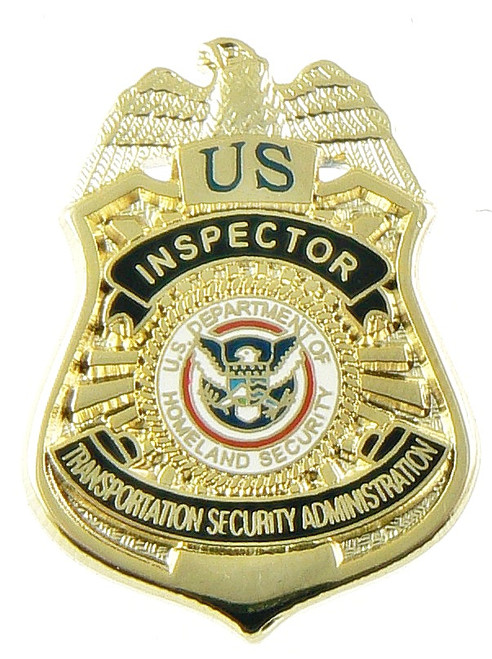 Transportation Security Administration Inspector Mini Badge Lapel Pin