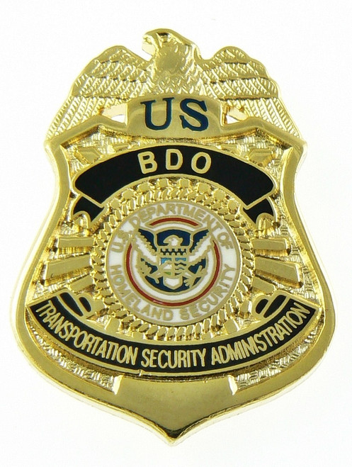 Transportation Security Administration BDO Officer Mini Badge Lapel Pin
