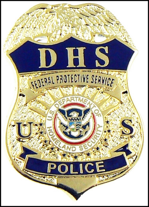 DHS Federal Protective Service Police Mini Badge Lapel Pin