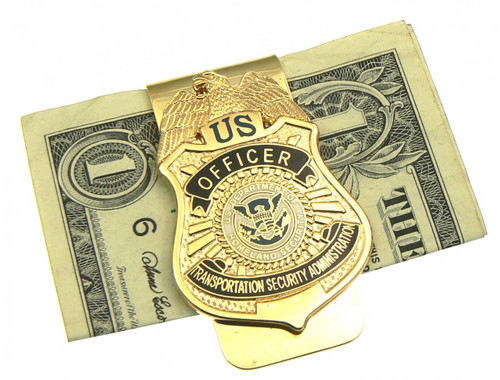 Transportation and Security Administration Mini Badge Money Clip