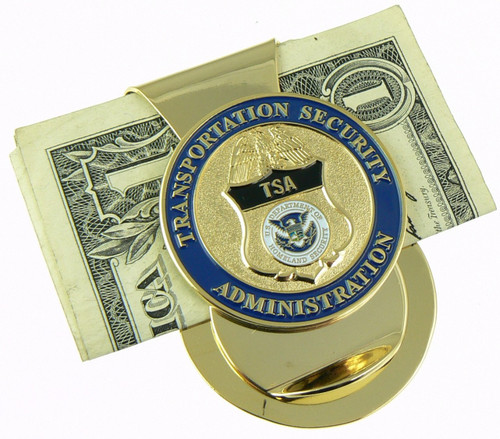 Transportation and Security Administration Challenge Coin Mini Badge Money Clip